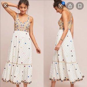Anthropologie linen dress. NWOT